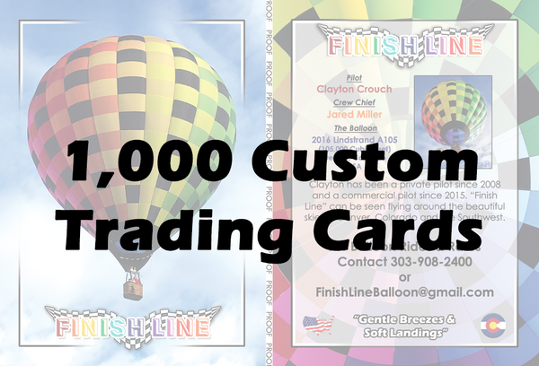 1,000 Custom Balloon Cards
