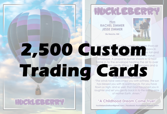 2,500 Custom Balloon Cards