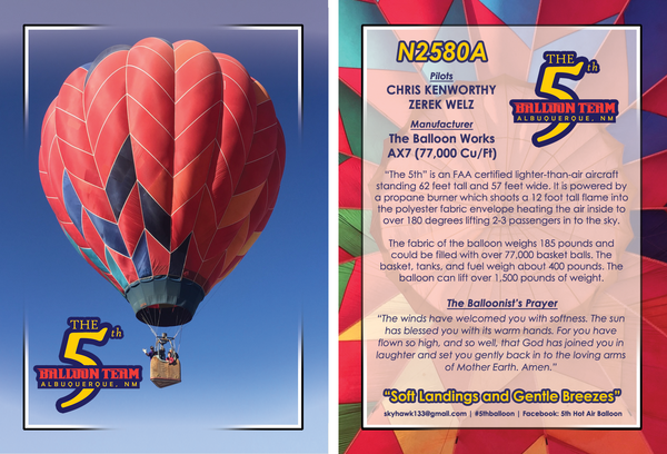 5,000 Custom Balloon Cards