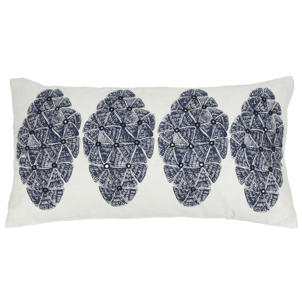 Sofia Navy Lumbar Pillow - ALLEM STUDIO