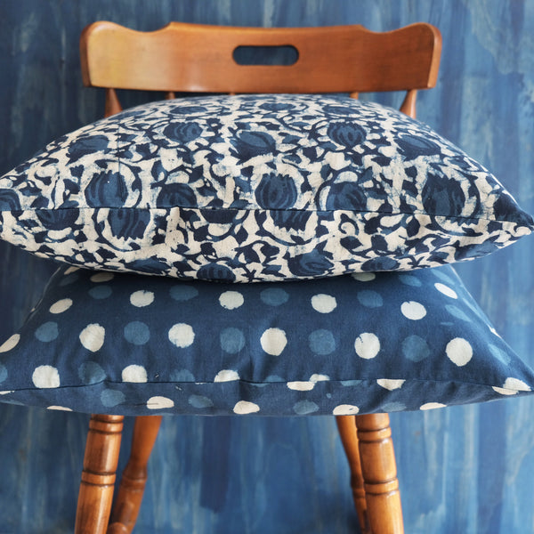 Indigo Rain Pillow - ALLEM STUDIO