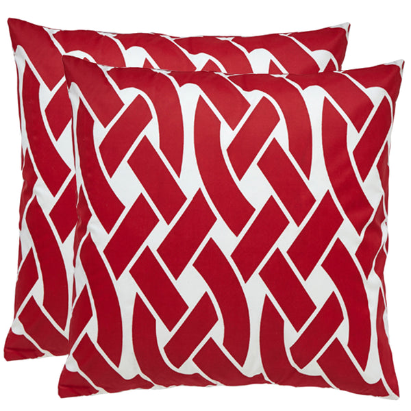 Knottica Red Outdoor Pillows (Pair)