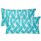 Knottica Sky Lumbar Outdoor Pillows (Pair)