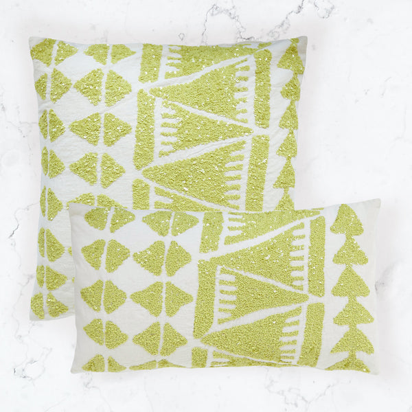 Lupita Lime Pillow (20x20 & 12x22)