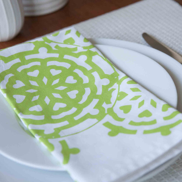 Mosaic Green Napkin (set of 4) - ALLEM STUDIO