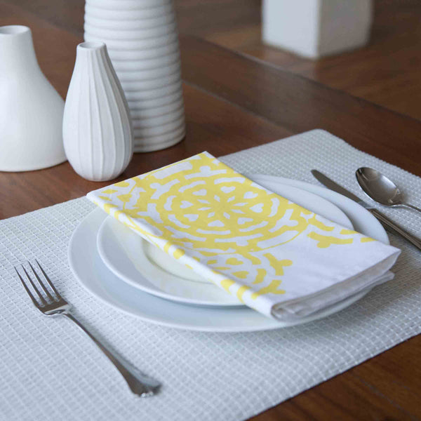 Mosaic Yellow Napkin (set of 4)