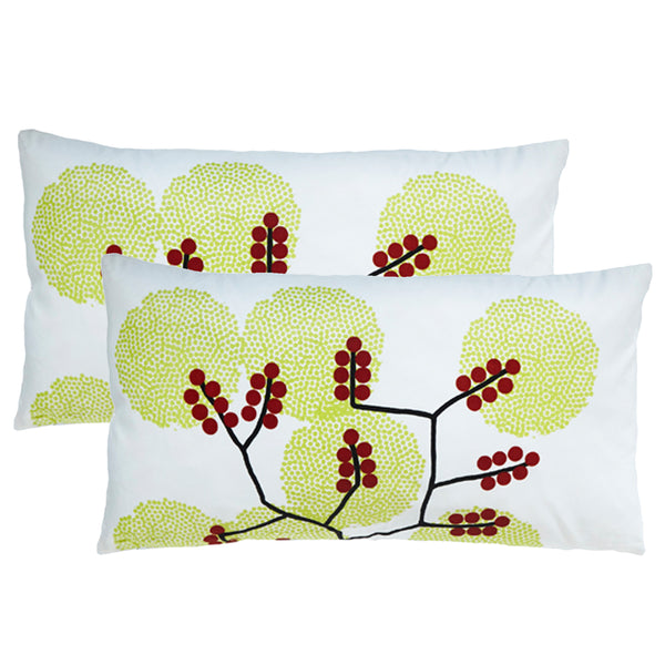 Spring Lumbar Outdoor Pillows (Pair)