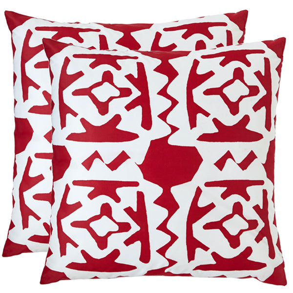 Worli Red Outdoor Pillows (Pair)