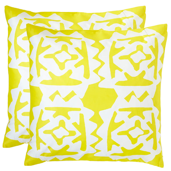 Worli Yellow Outdoor Pillows (Pair)
