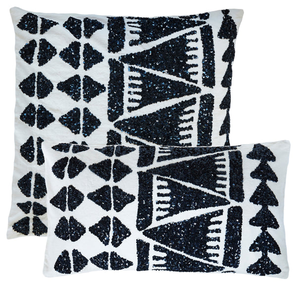 Lupita Navy Pillow (20x20 & 12x22)