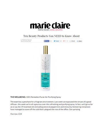 PurAir natural purifying spray  Marie Claire