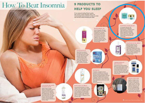 how to beat Insomnia | 1001 remedies sleep balm