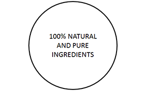 100% natural and fine ingredients