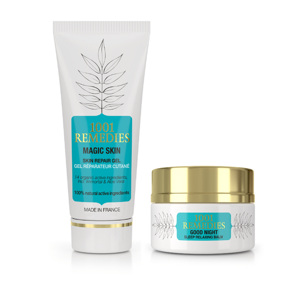 Beauty & Sleep Gift Set  - Acne Cream & Sleep Balm - 1001 Remedies