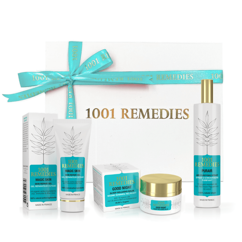 Pampering Gift Set | Room Spray, Sleep Aid, Acne Treatment - 1001 Remedies