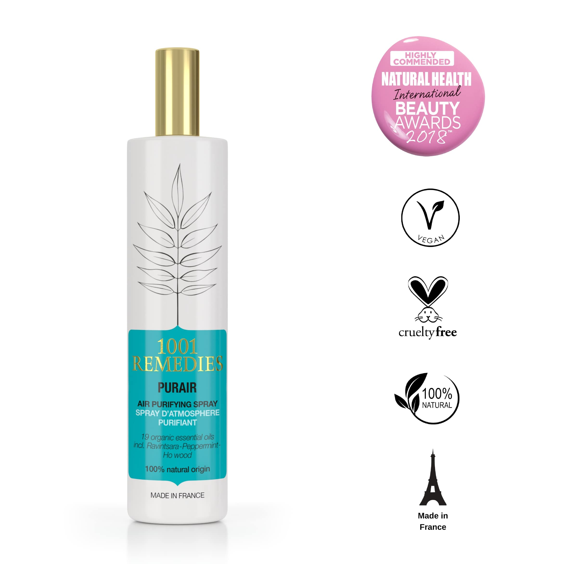 Room Spray 100ml | Organic & Vegan - 1001 Remedies