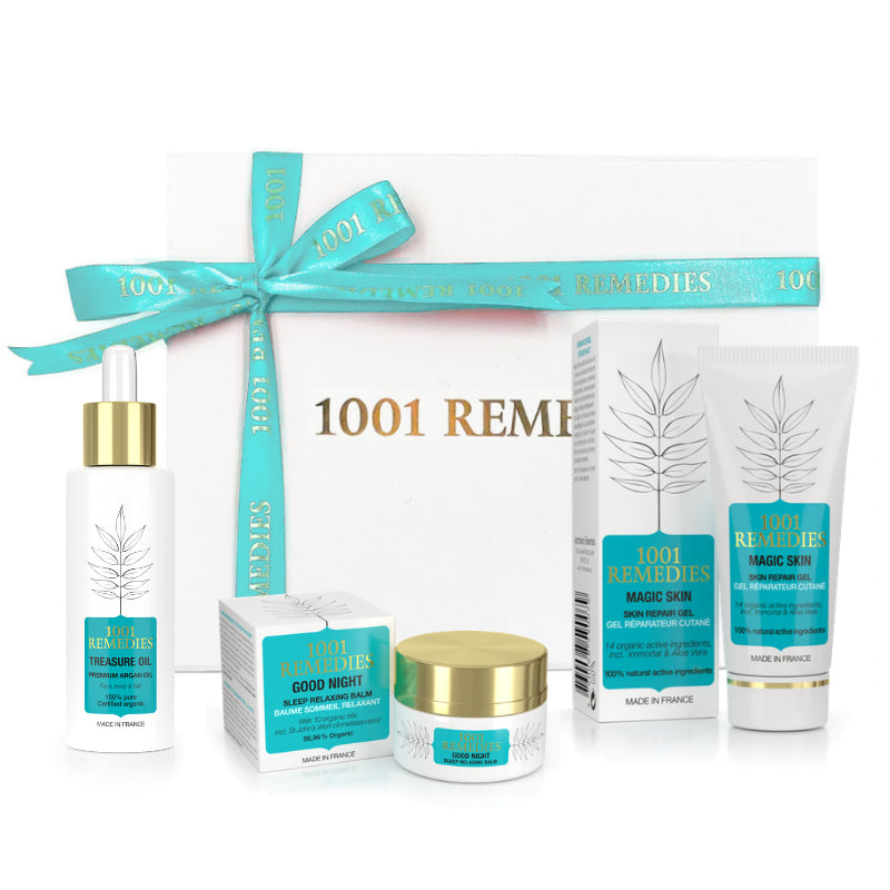 Mum Gift Set with Acne Spot Cream, Sleep Aid & Argan Oil for Healthy Hair - 1001 Remedies