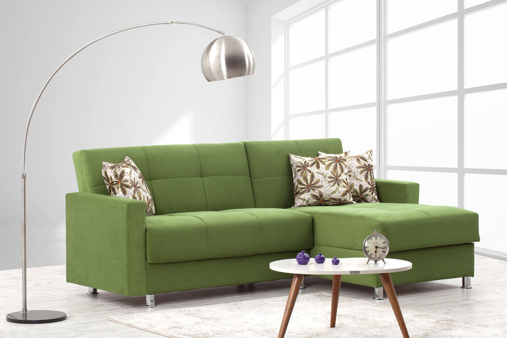Basic Sectional Sofa Couch with Chaise | Sofa Bed Sleeper