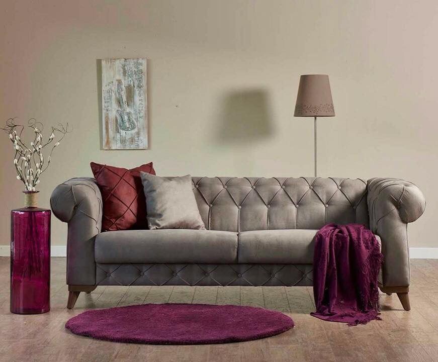 Verona Loveseat & Sofa Bed | Sofa Bed Sleeper | Tufted Design | Gray