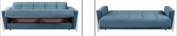 Eylul Blue Living Room Set - Blue Sofa Bed Sleeper | Accent Chair Arm Chair