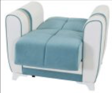 Sedef Living Room Set | Sofa Bed Sleeper | Accent Chair Blue