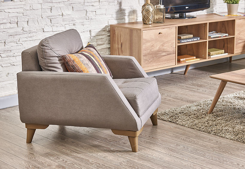 Capella Gray Accent Arm Chair - Available in Two Colors