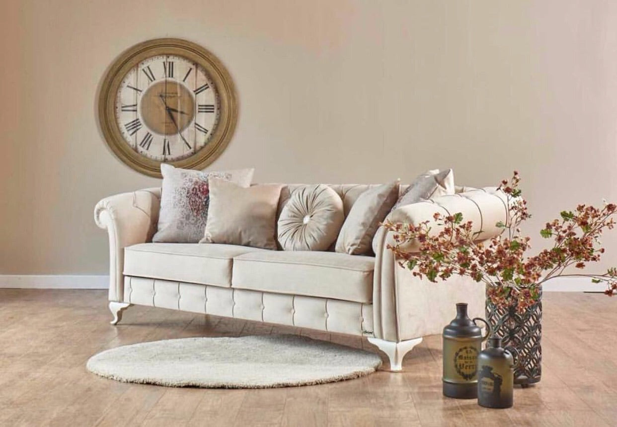 Golden Palace Sofa Bed | Off White
