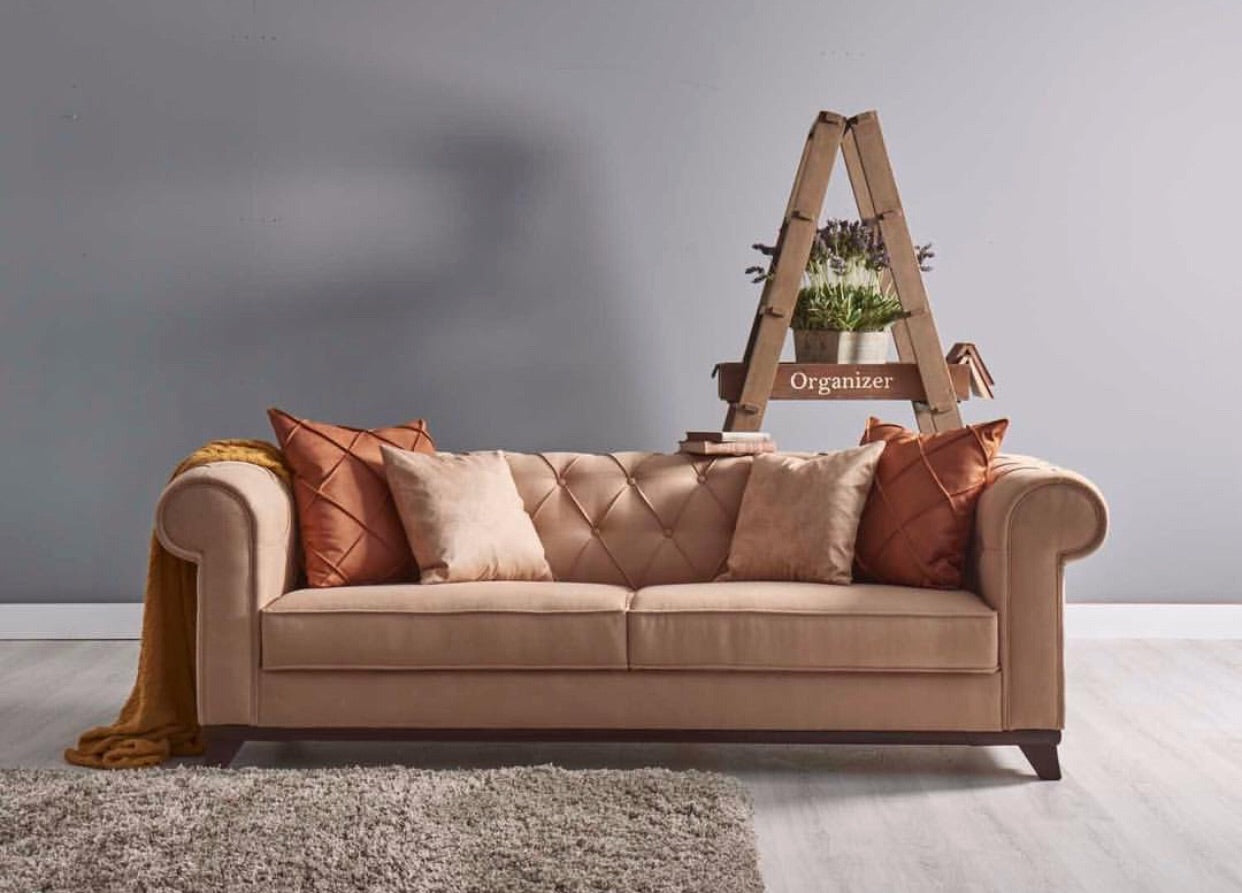 Casablanca Sofa Bed | Sofa Bed Sleeper | Tufted Design | Beige