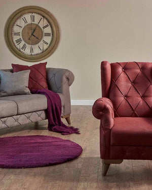 Verona Tufted Design Accent Arm Chair