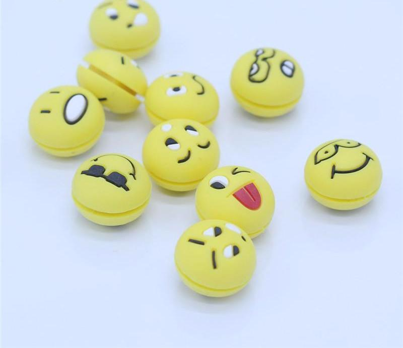 20 PCS Tennis Racket Shock Absorber Emoji Vibration Dampeners