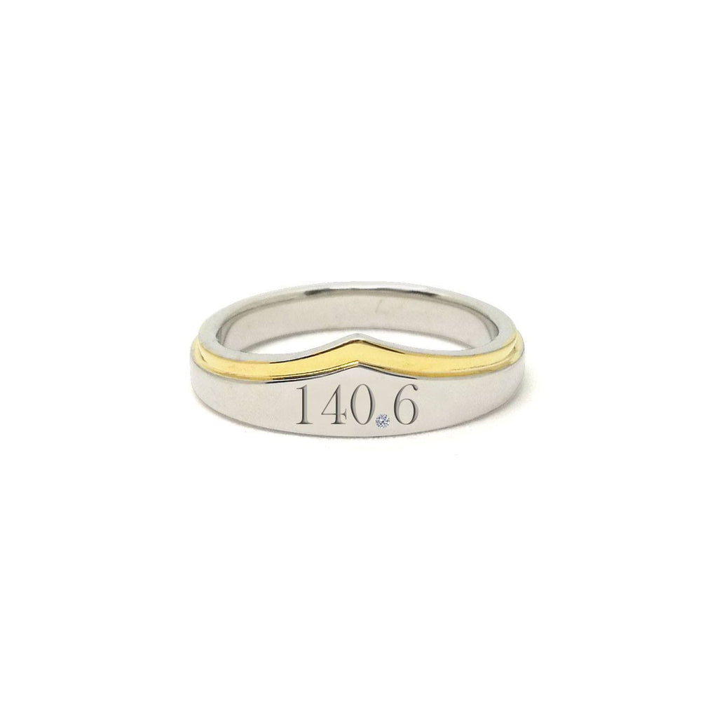 140.6 Triathlon Wonder Woman Silver And Gold Zirconia Ring