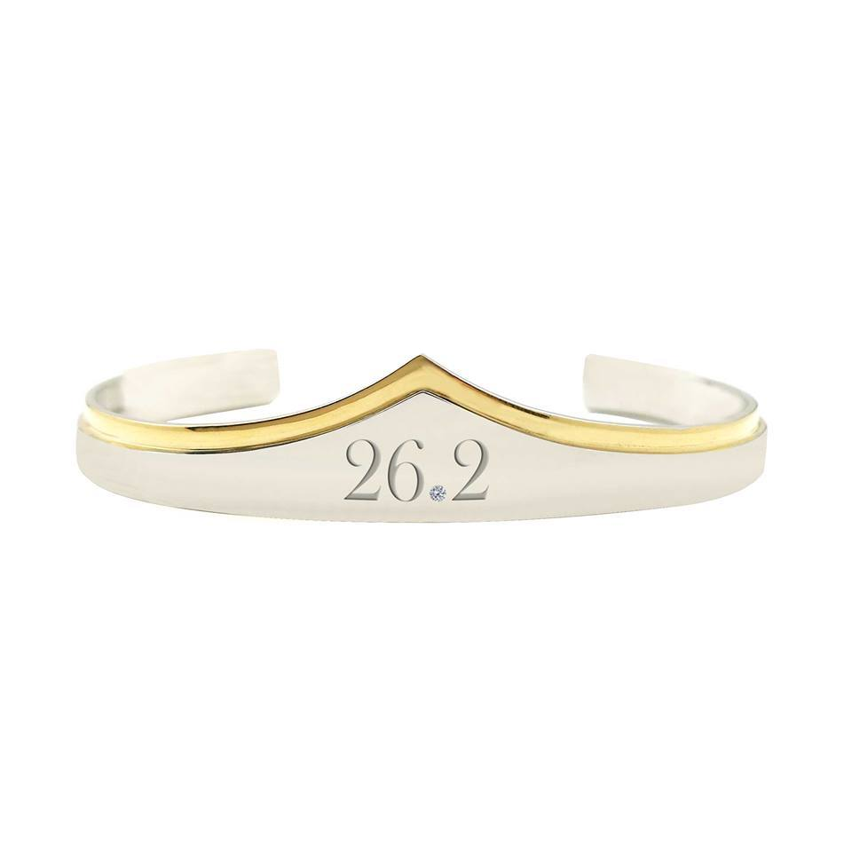 26.2 Marathon Wonder Woman Silver And Gold Bracelet Cuff
