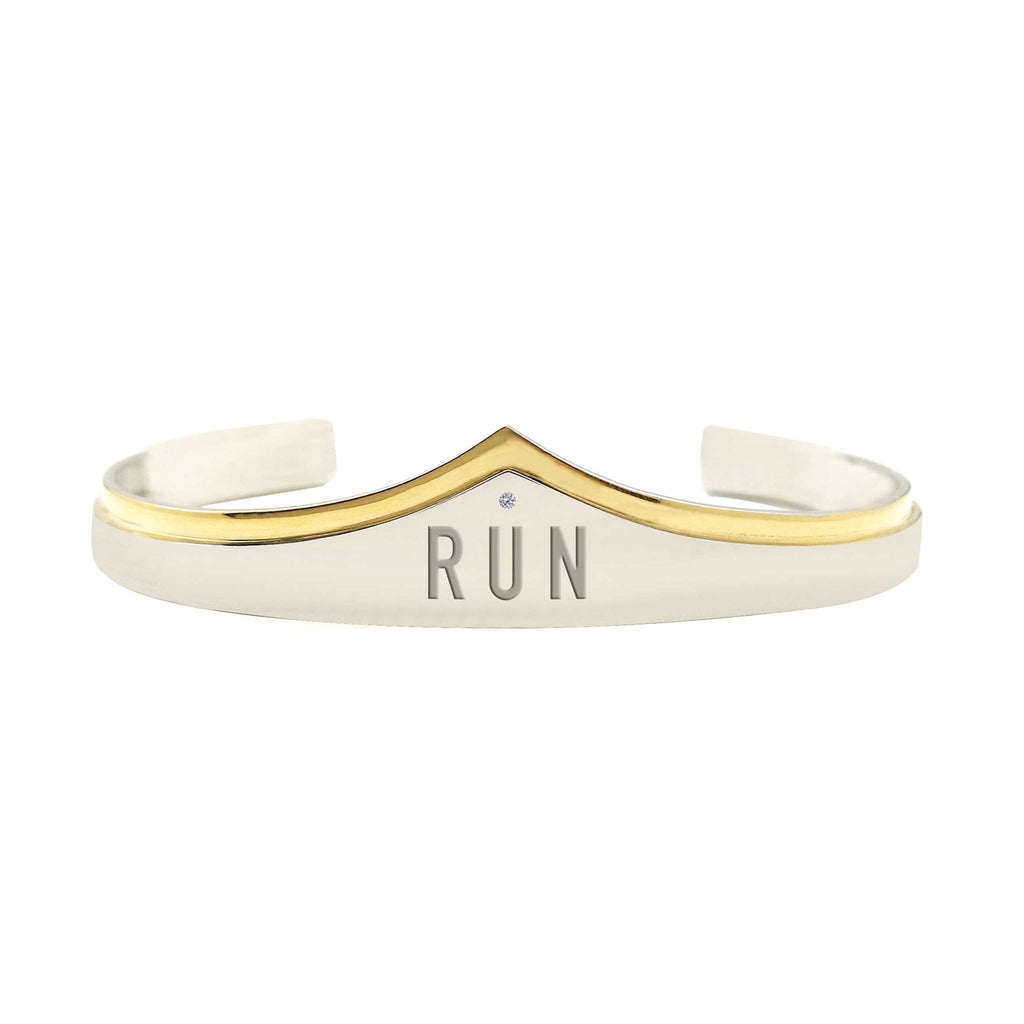 Run Wonder Woman Silver And Gold Bracelet Cuff