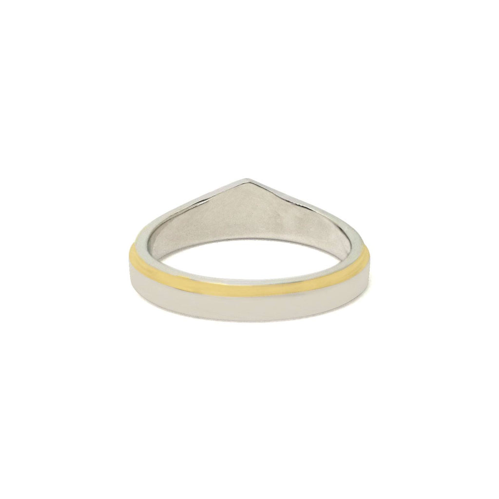 Run Wonder Woman Silver And Gold Zirconia Ring