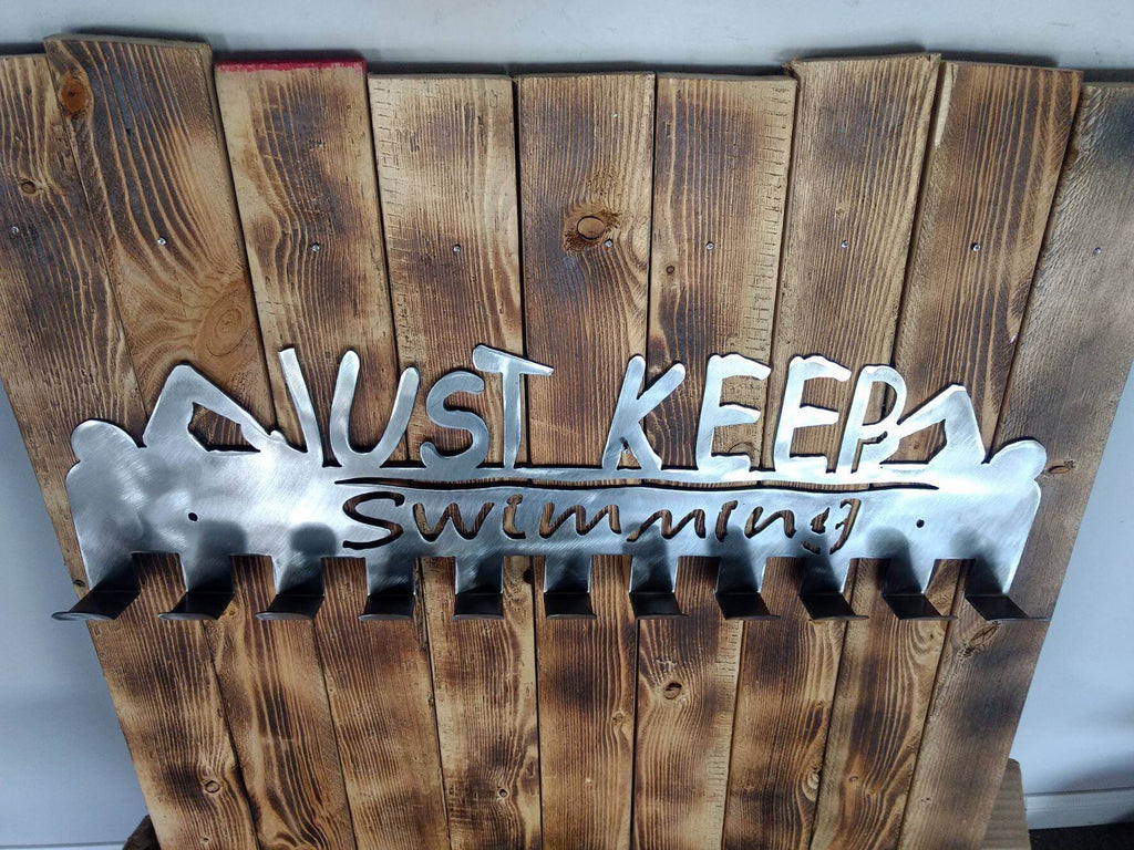 """Just Keep Swimming"" Medal Display Holder"