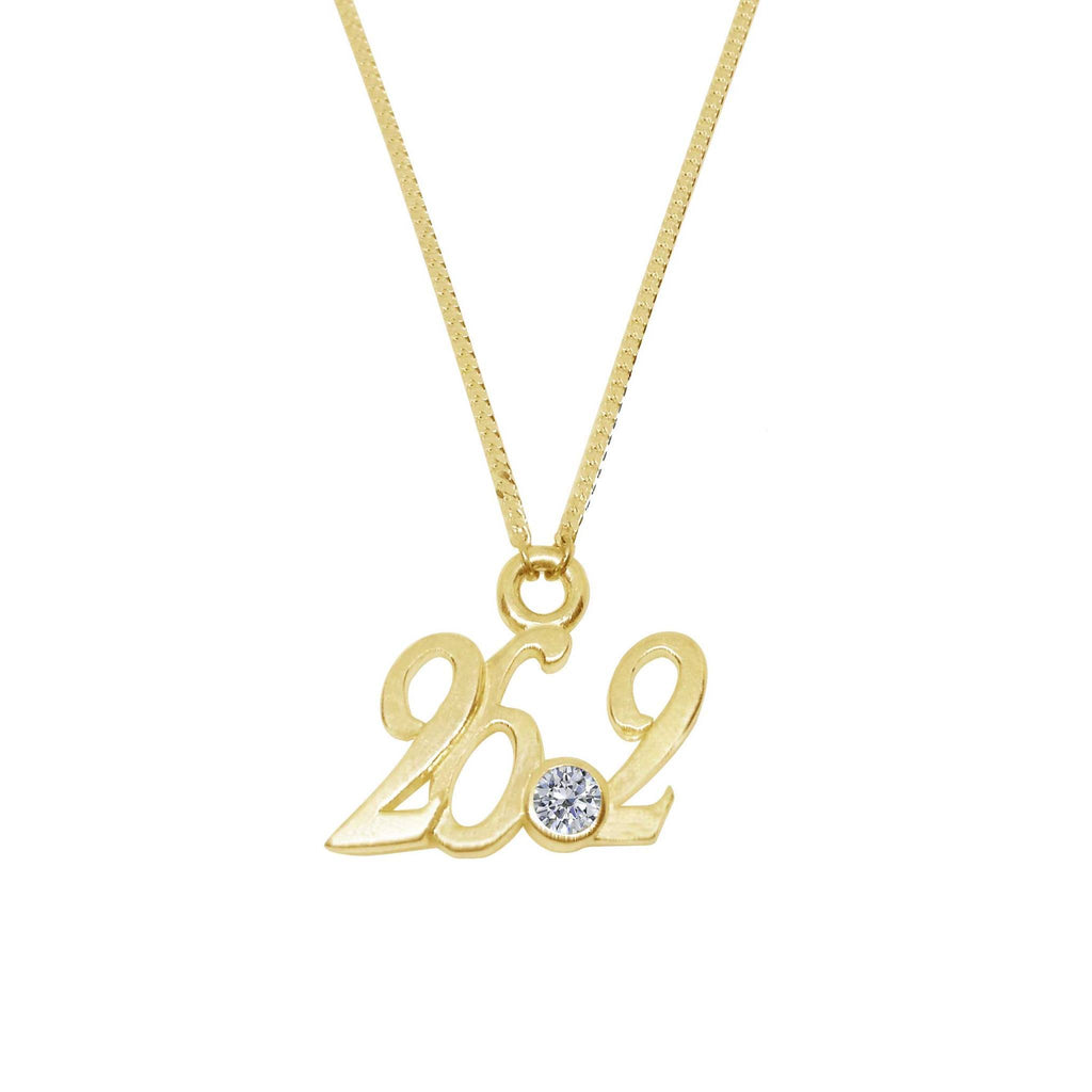 26.2 Marathon Pendant Necklace with Zirconia Onyx