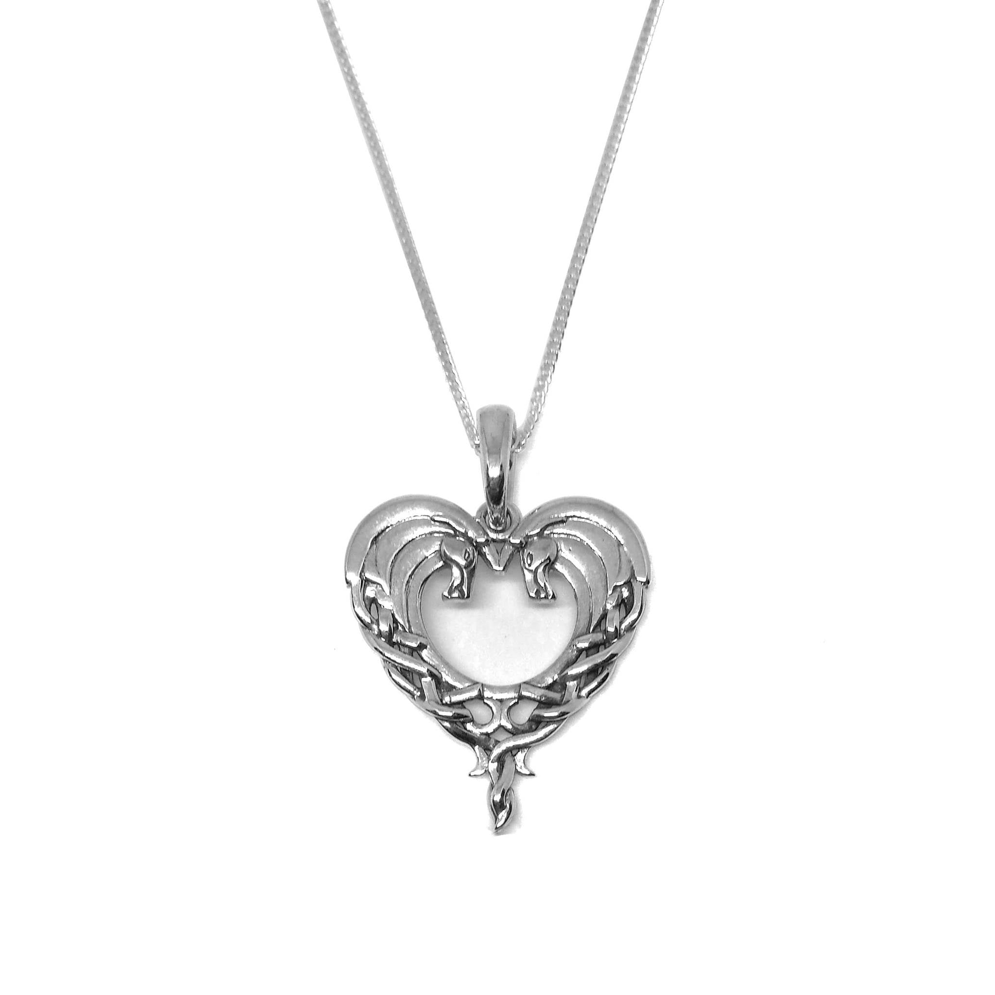 heart necklace silver pendant celtic ms love knot triangle gift category sku bag sterling tags