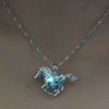 Glow In The Dark Horse Locket Pendant Necklace
