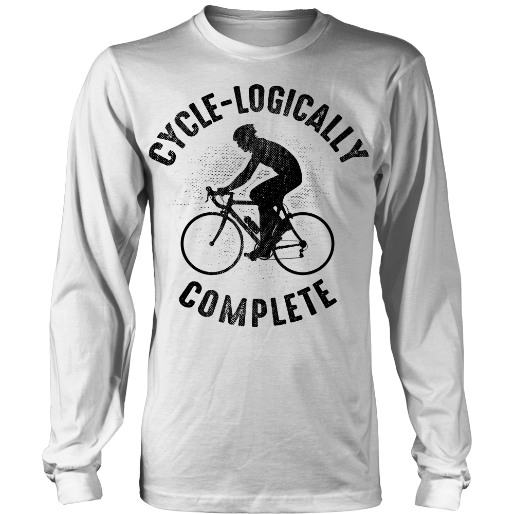 """Cycle-logically Complete"" Shirt (Black Print)"