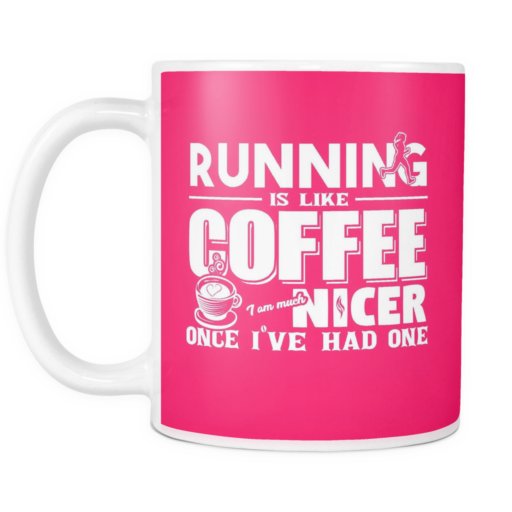 """Running Like Coffee"" 11 oz Mug"