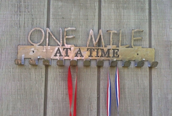 """One Mile At A Time"" Medal Display Holder"
