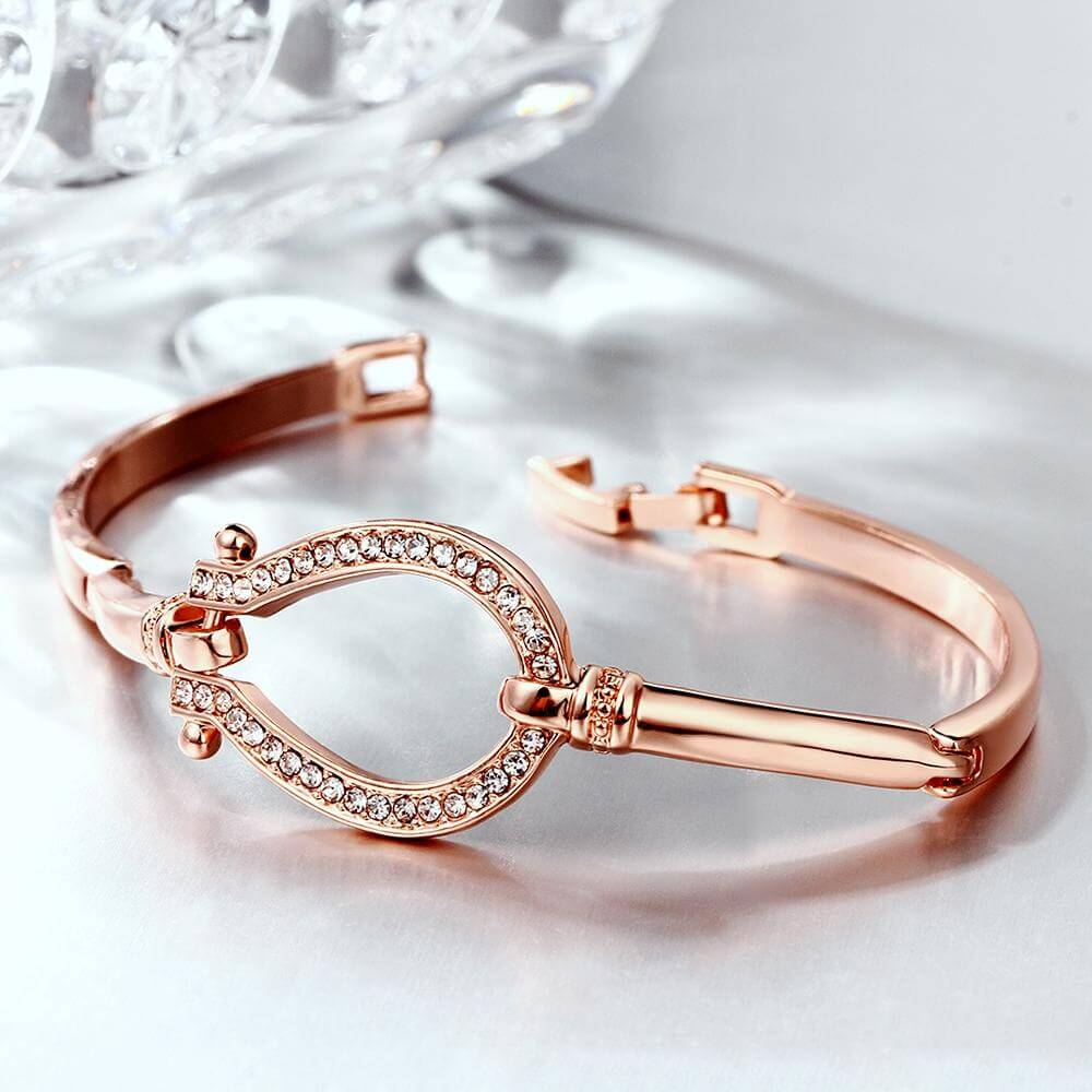 Horseback Riding Horse Shoe Bangle Bracelet