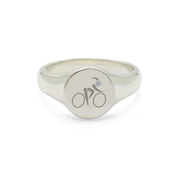 Cyclist Signet Ring