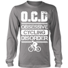 """O.C.D"" Cycling Shirt (white print)"