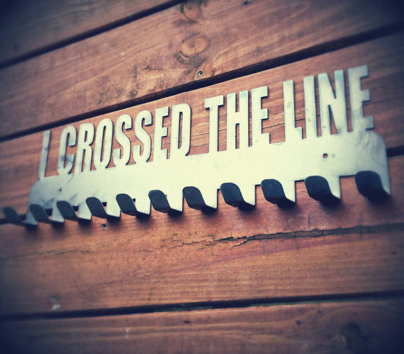 """I Crossed The Line"" Running Medal Display Holder"