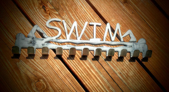 """Swim"" Medal Display Holder"