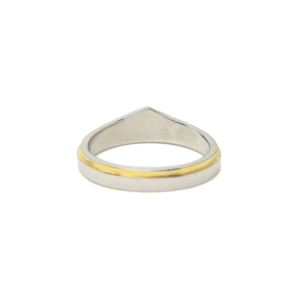 Wonder Woman Swimming Silver And Gold Zirconia Ring