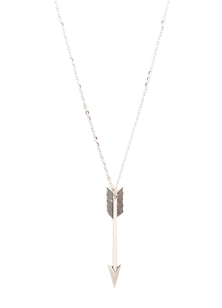 Archery Arrow Long Chain Pendant Necklace