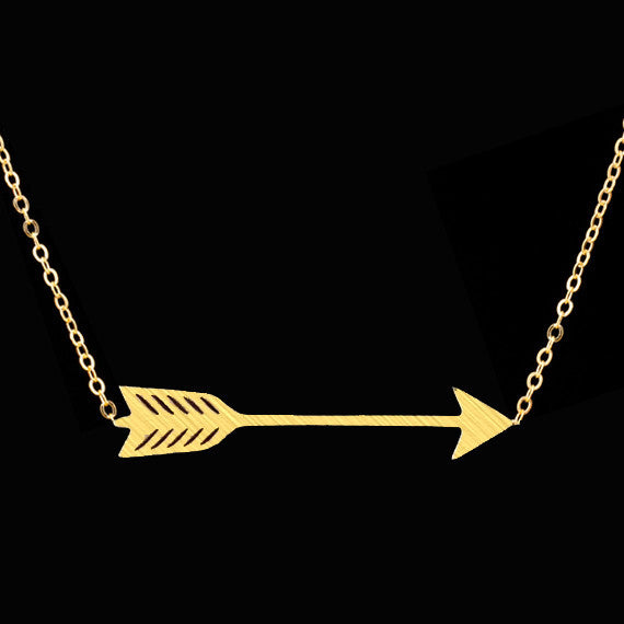 Hunger Games Stainless Steel Archery Arrow Necklace
