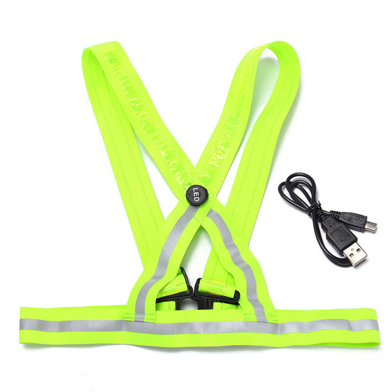 Running/Cycling LED Light Reflective Safety Vest